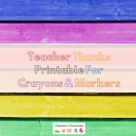 Teacher Thank You Printable With Crayola Color