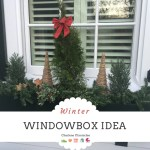 Here is a Winter Window Box Idea on a Budget Using Faux Fillers