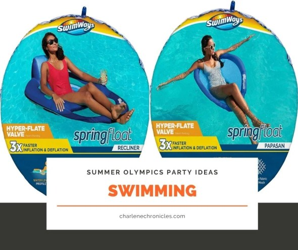 summer olympic themed party ideas swimming