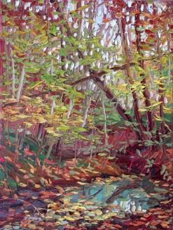 "Plein air oil painting by Charlene Marsh, 16"" x 12"""