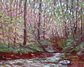 Plein air studio oil painting by Charlene Marsh