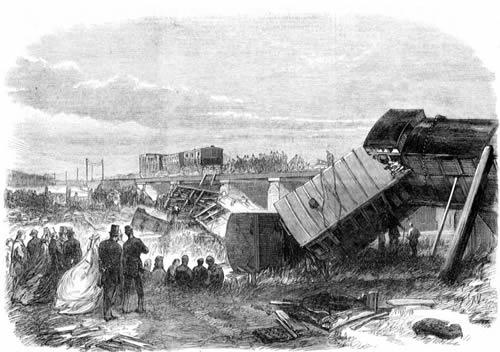 Image result for charles dickens staplehurst rail crash