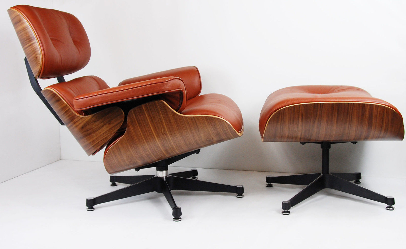 Charles Eames Chair Walnut Brown Tan Leather 2 Charles Eames