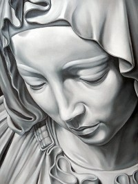 Mary after Pieta sculpture by Michelangelo