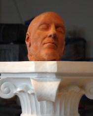 Clay Head on a Pedestal 2