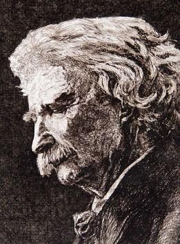 Mark Twain, side view