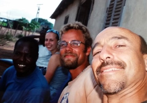 CLB and friends, EarthWatch expedition, Zimbabwe