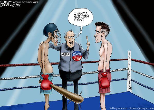 obama media romney