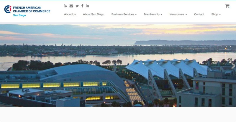 French American Chamber of Commerce San Diego - WordPress website