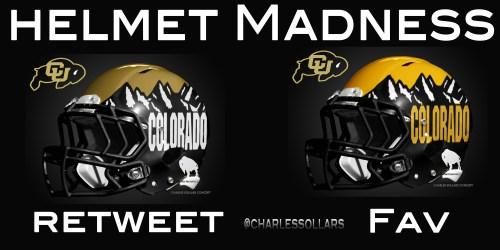 Colorado Buffs helmet madness round 3 set 1