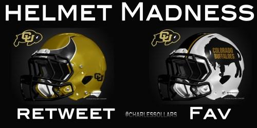 Colorado Buffs helmet madness round 3 set 6