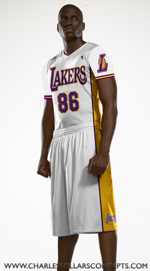 lakers sleeved uniform 4