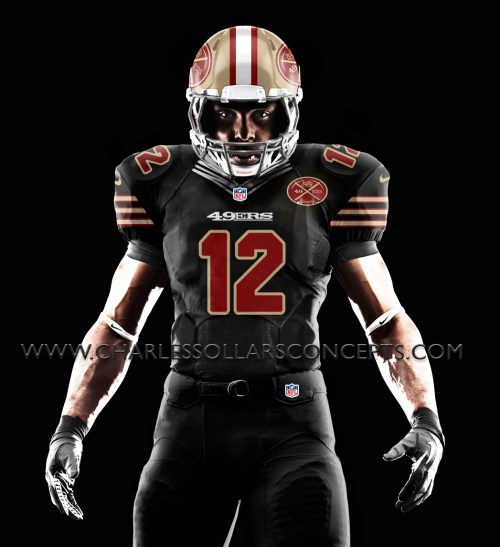 black 49ers red numbers
