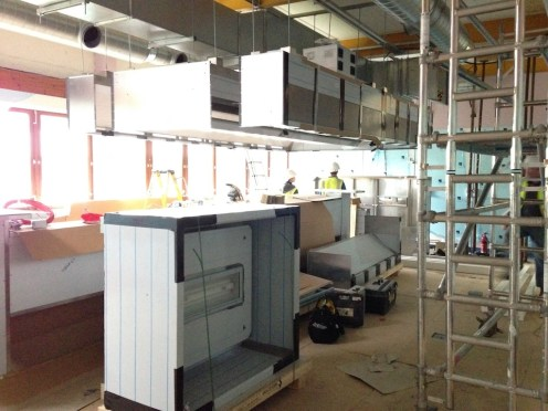 Construction of our Training Kitchen