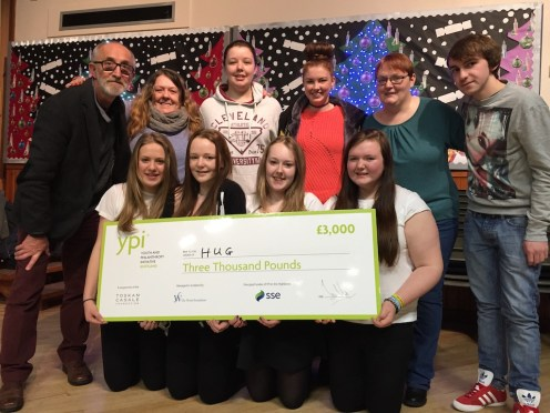 £3000 was donated to HUG following the success of the YPI Team in S3 RMPS