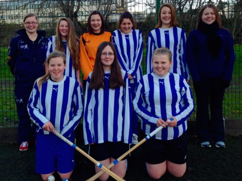 Our newly formed girls shinty team