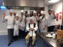 Mr Roux, Mike Mathieson, Glenn Watson join teacher Derek Newlands and Hospitality students