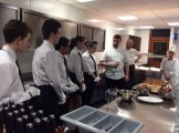 Mike Mathieson explaining canapes to students