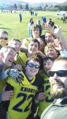 The now famous Knights Selfie.