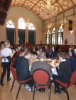 The hall was an impressive venue for lunch