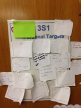 Classes set personal targets...