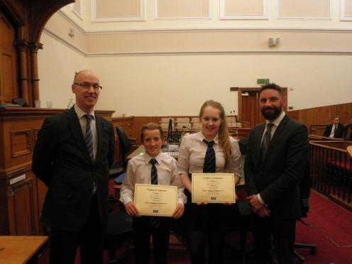 Cameron and Morven won the North of Scotland Final at Aberdeen Sheriff Court