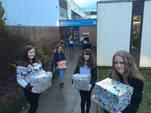 Pupils have been carrying out many hampers out of school