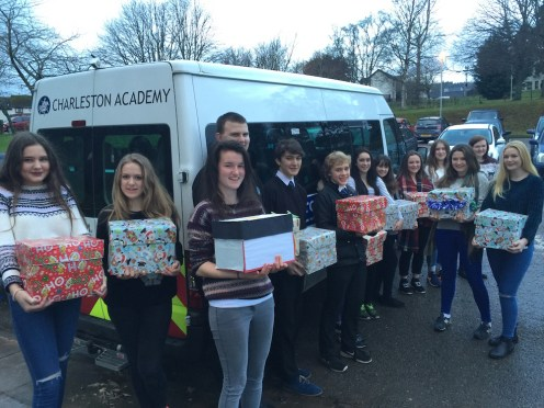 We've filled two minibuses with hampers this year.