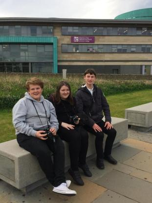 Caithin, Kelly Marie and Timothy at UHI