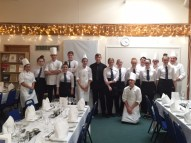 Chefs and waiting staff