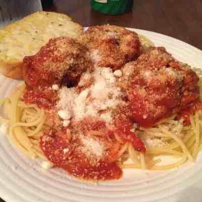 Spaghetti and Meatballs - Charleston Crafted
