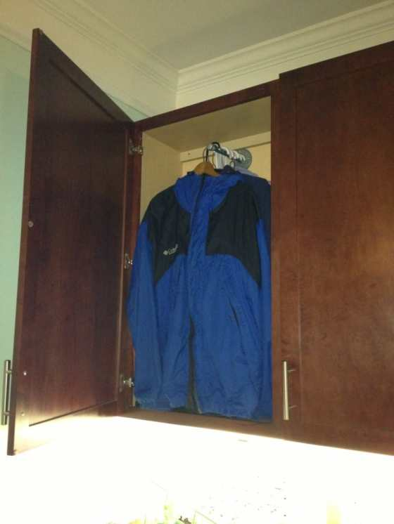 Coat Storage in a Cabinet - Charleston Crafted