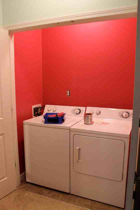 Painting a Laundry Room Pink - Charleston Crafted