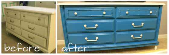 before after dresser makeover