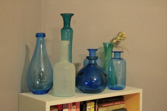Sea Glass Vase Display - Charleston Crafted