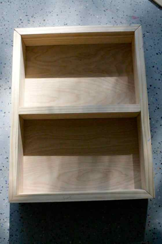 How to turn old medicine cabinet into open shelving - Charleston Crafted