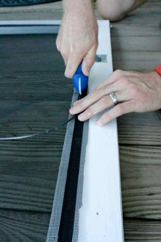 How To Replace a Screen Door Screen - Charleston Crafted