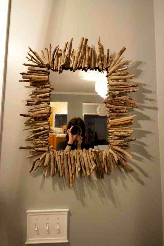 DIY Starburst Driftwood Mirror - Charleston Crafted