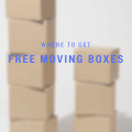 where to get FREE cardboard moving boxes - Charleston Crafted