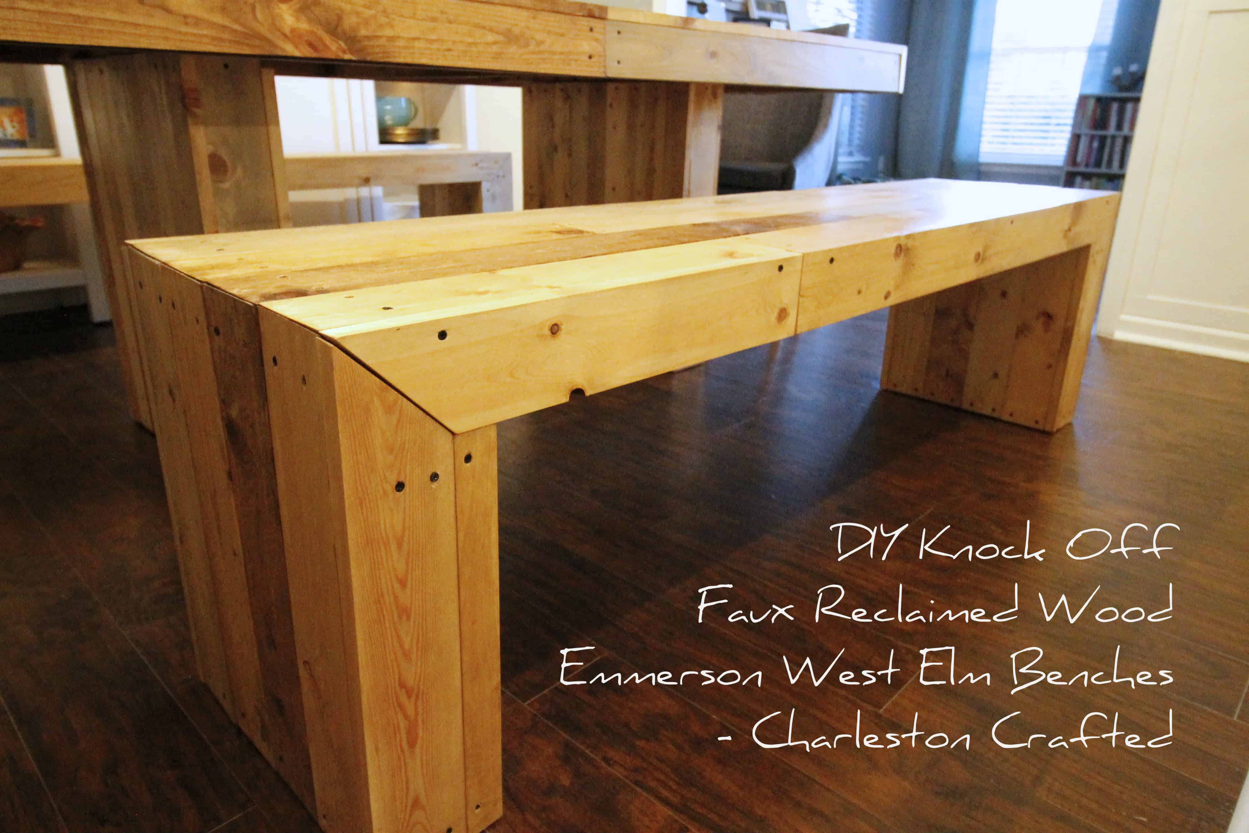 diy furniture west elm knock. beautiful knock diy knock off faux reclaimed wood emmerson west elm benches u2022 charleston  crafted throughout diy furniture