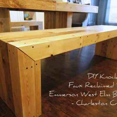 DIY Knock Off Faux Reclaimed Wood Emmerson West Elm Benches
