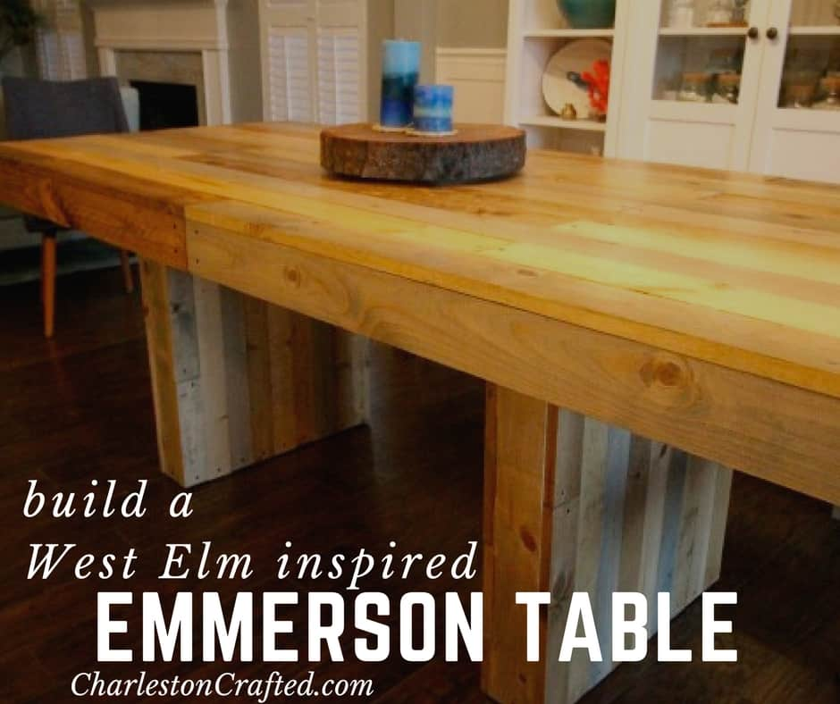 West Elm Emmerson Table Diy Knock Off Charleston Crafted