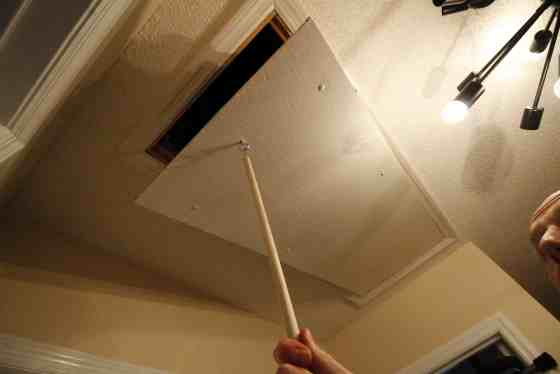 Replace an Attic Pull String with a Hook - Charleston Crafted