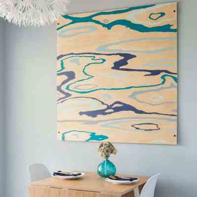 An Easy DIY Wood Grain Painting & 3-D Mounting