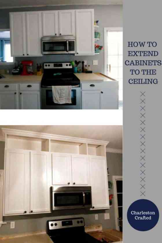 How to extend kitchen cabinets to the ceiling - Charleston Crafted