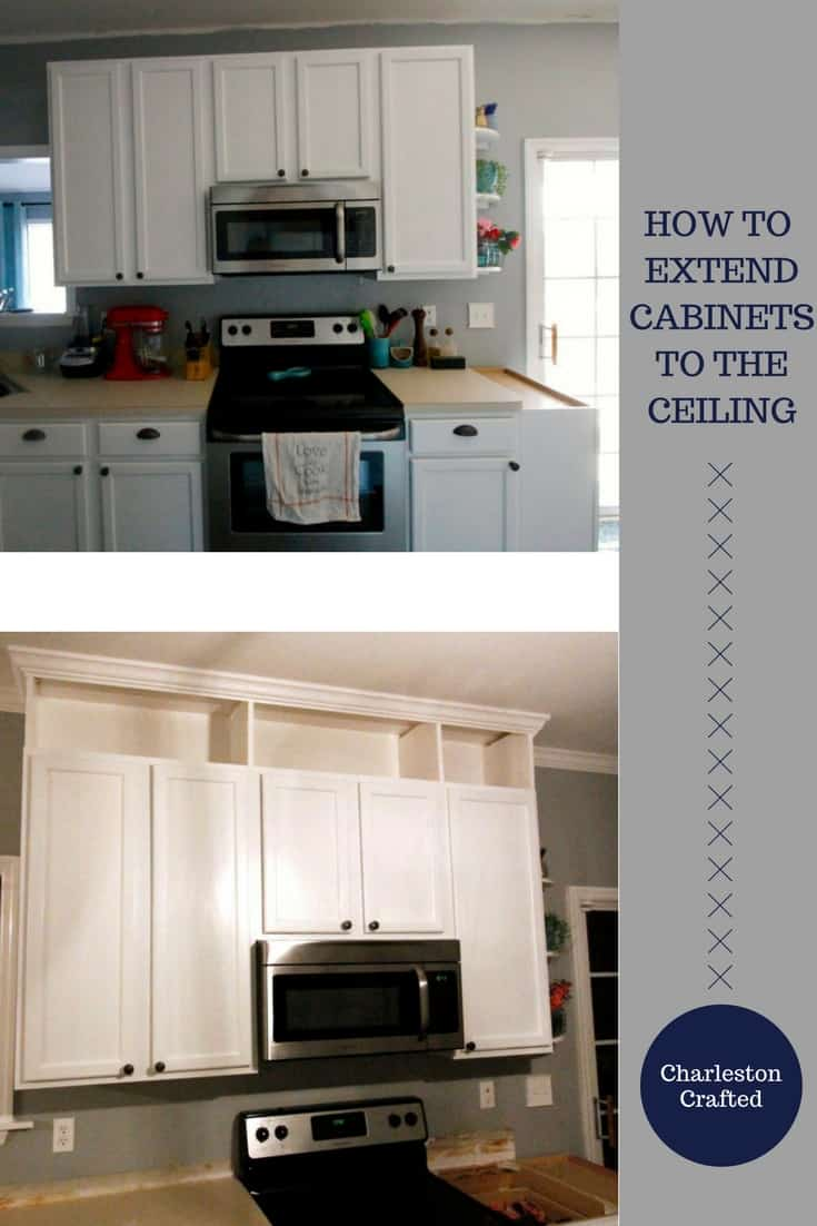 Kitchen Cabinets Up To Ceiling how to extend kitchen cabinets to the ceiling • charleston crafted
