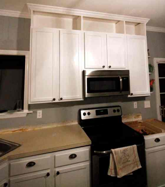 How To Extend Kitchen Cabinets To The Ceiling • Charleston