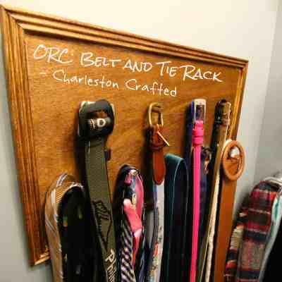 ORC: DIY Wooden Hanging Belt and Tie Rack