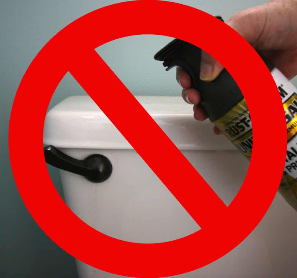 Can you spray paint a toilet flush handle? via Charleston Crafted