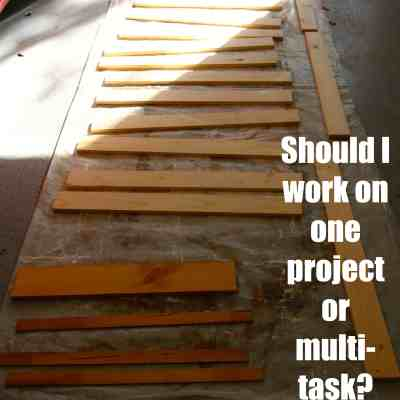 Should I work on one project at a time or multi-task?